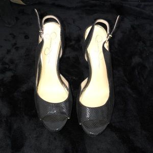 Black Jessica Simpson high heels